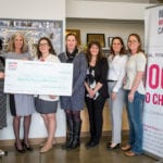 Cheque presented to Calgary Meals on Wheels