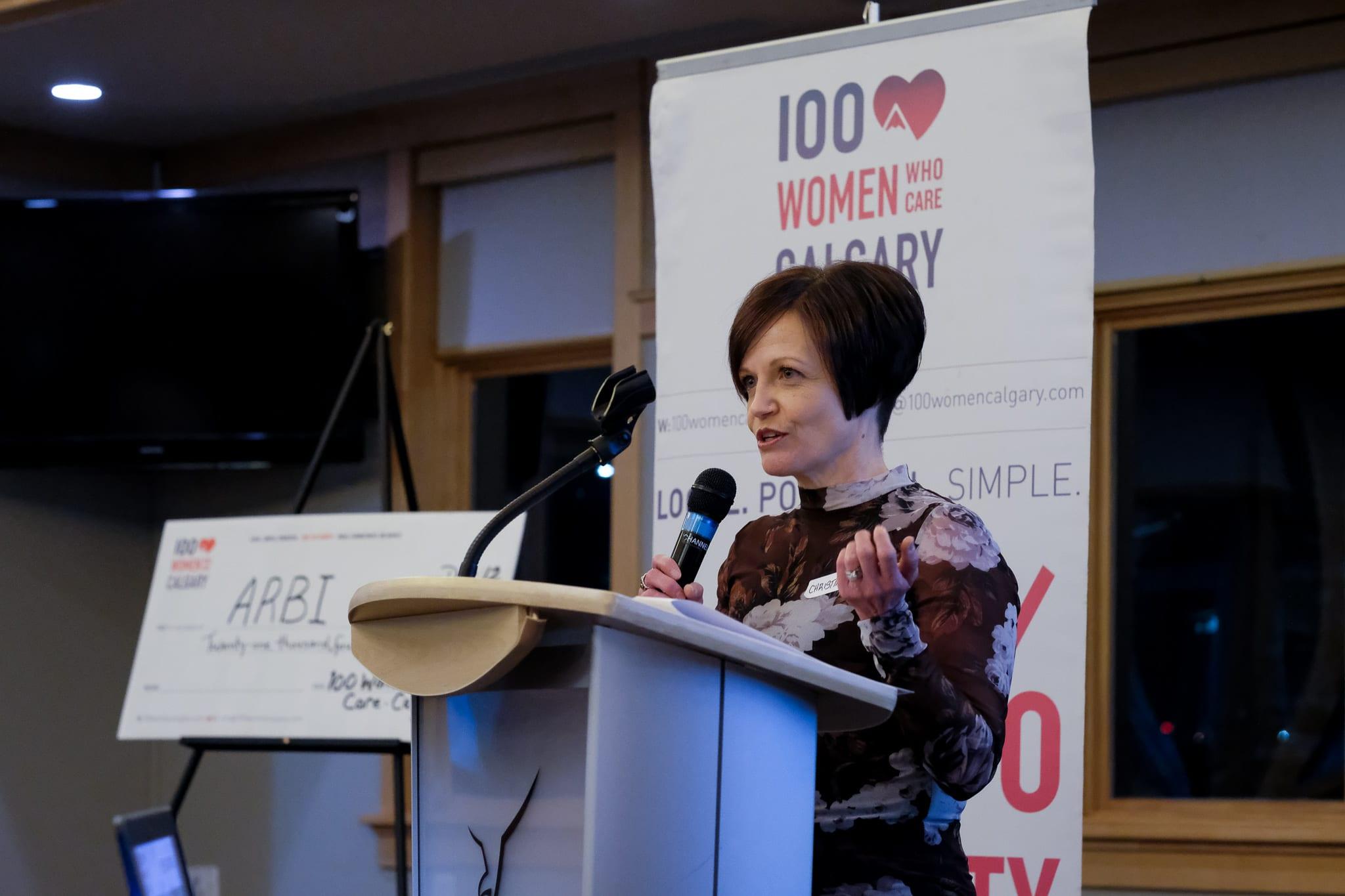 Christine Mack-Granger spoke for Calgary Health Trust - Grief Support Program