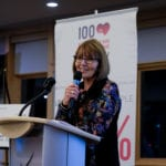 Geri Moon spoke for Hospice Calgary Society (Sage Centre Child + Family Grief Services).