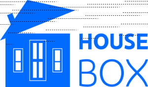 Horizontal House Box-Blue