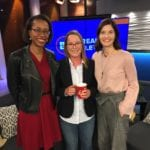 alison lapczuk and heather tomlinson on breakfast television with Leah Sarich